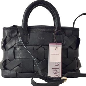 Kooba Crossbody Laos Black Genuine Leather Satchel